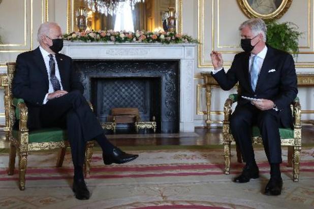 Joe Biden est arrivé au Palais royal