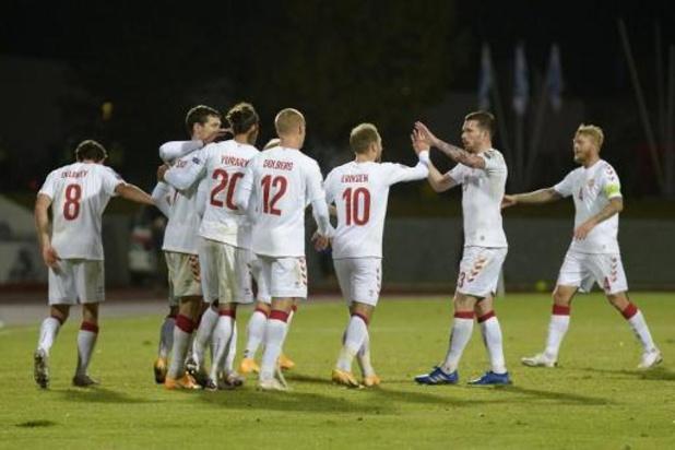 Rode Duivels - Denemarken pakt eerste driepunter in groep van de Belgen