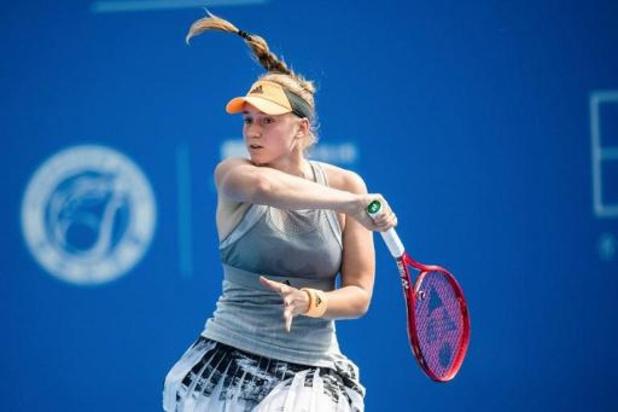 WTA Hobart - Victoire d'Elena Rybakina