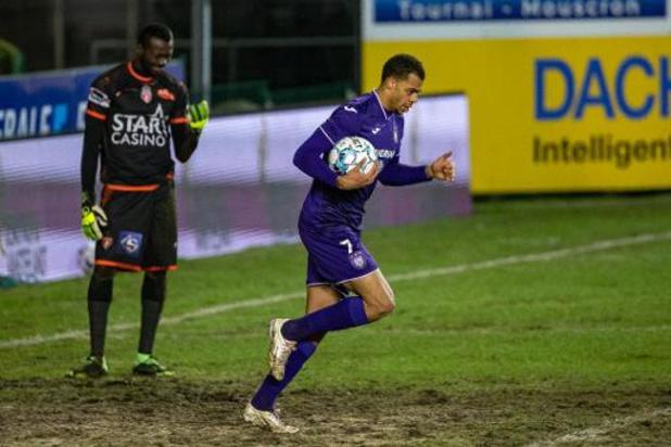Jupiler Pro League - Anderlecht pakt in extremis punt in Moeskroen
