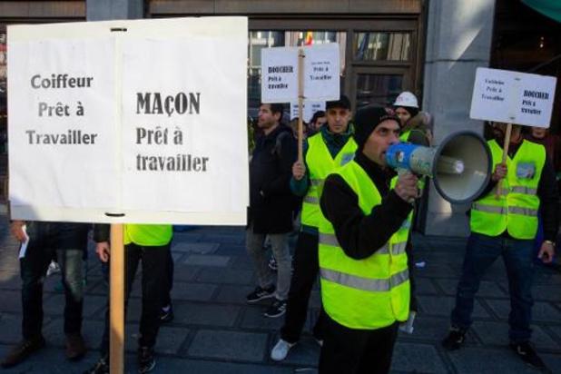 Des sans-papiers manifestent pour la 5e fois pour travailler dans les métiers en pénurie