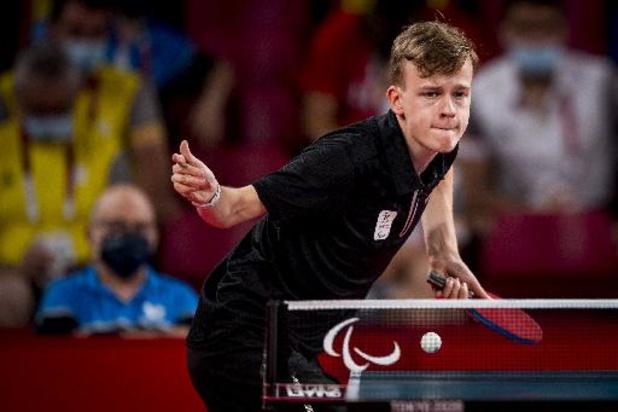 Paralympische Spelen - Titelverdediger Laurens Devos bereikt finale in tafeltennis