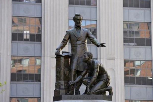 Standbeeld van Abraham Lincoln verwijderd in Boston