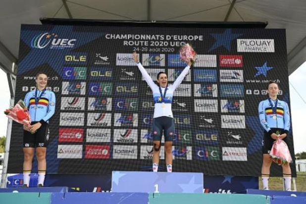 Argent et bronze pour la Belgique chez les juniors filles des championnats d'Europe de cyclisme à Plouay
