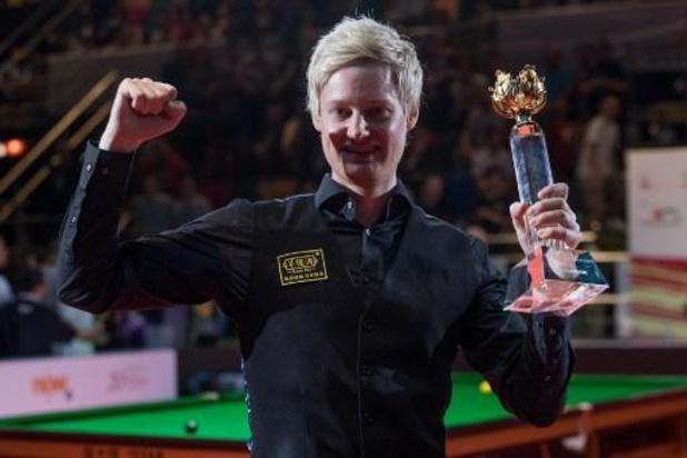 World Grand Prix snooker - Neil Robertson wint een achttiende rankingtoernooi