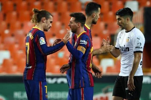 Le FC Barcelone arrache un succès étriqué 2-3 à Valence