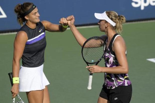 Masters WTA : Elise Mertens et Aryna Sabalenka gagnent leur 2e match aux dépens des soeurs Chan