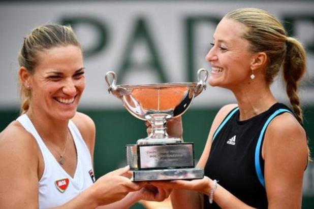 Kristina Mladenovic et Timea Babos restent championnes du double