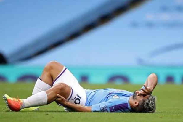 """Sergio Agüero touché au genou, Guardiola inquiet: """"Cela ne semble pas bon"""""""