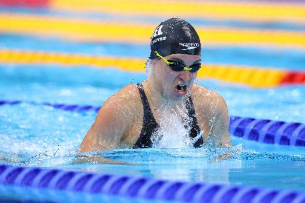 Fanny Lecluyse mag naar halve finales 200m schoolslag, olympisch record voor Schoenmaker