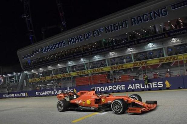 Vettel renoue avec la victoire à Singapour, doublé Ferrari avec la 2e place de Leclerc