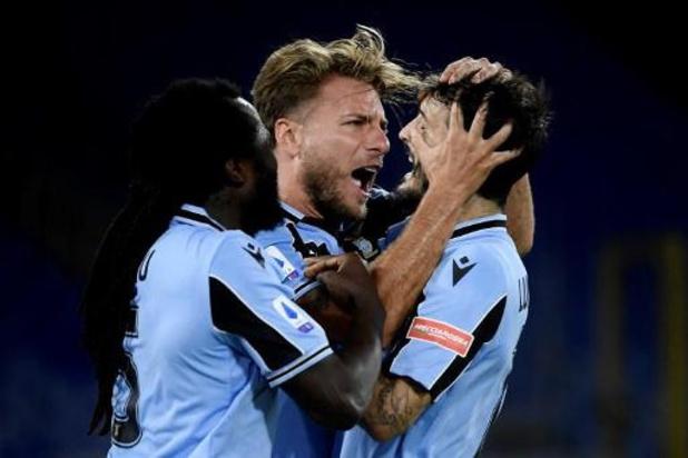 Les Belges à l'étranger - La Lazio, avec Jordan Lukaku monté au jeu, bat Cagliari et s'offre un ticket pour la C1