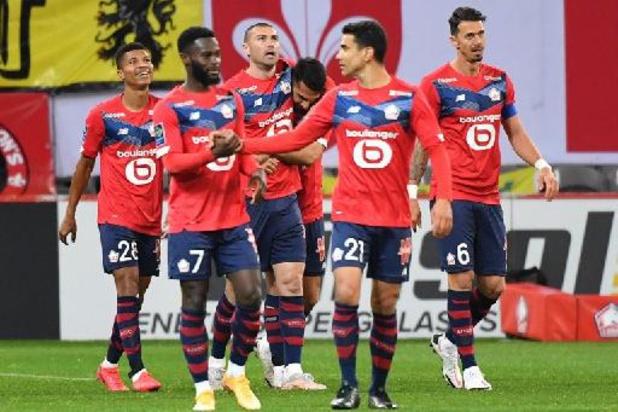 Ligue 1 - Lille bat Nice et garde la tête, le PSG reste dans son sillage