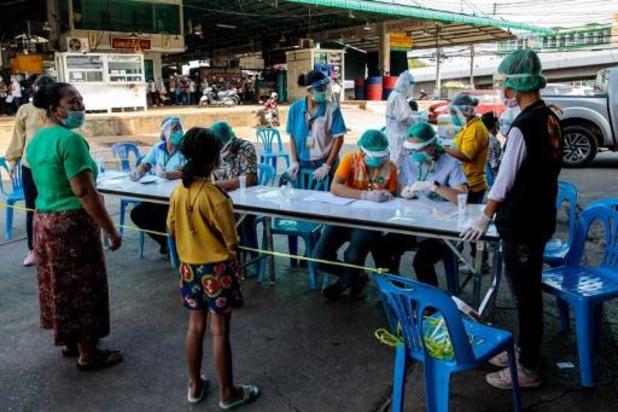 Thailand: record van 548 besmettingen gelinkt aan vismarkt