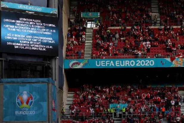 Euro 2020 - Danemark-Finlande: le match reprend samedi à 20h30