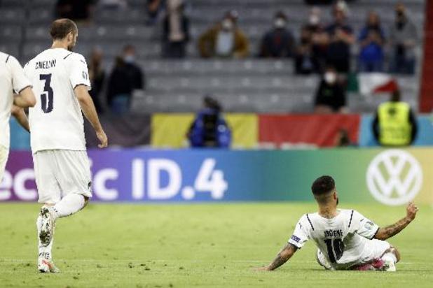 Euro 2020 - La Belgique, mise en échec par le collectif italien, s'incline 1-2 et est éliminée