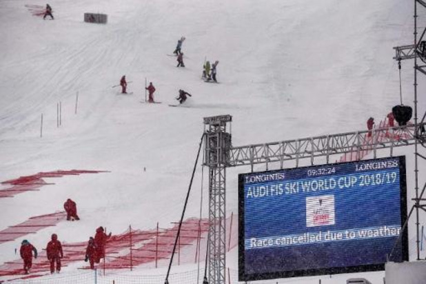 Le slalom messieurs de Val d'Isère annulé à cause du vent