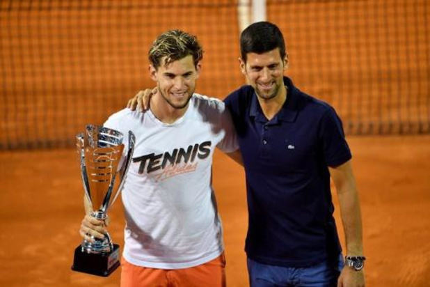 Adria Tour tennis - Dominic Thiem wint etappe in Belgrado