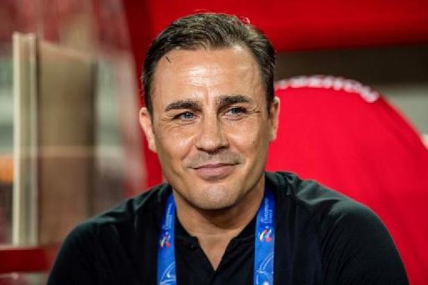 """Contre la Belgique, l'Italie est """"à la croisée des chemins"""" selon Fabio Cannavaro"""