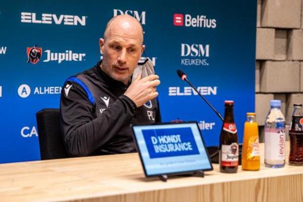 Coupe de Belgique - Guéri du coronavirus, Philippe Clement retrouvera le banc brugeois face au Standard