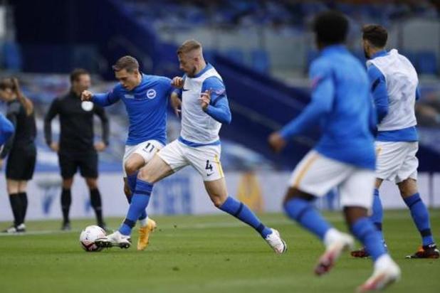 Brighton kan niets rapen tegen United, Trossard treft drie keer het doelhout