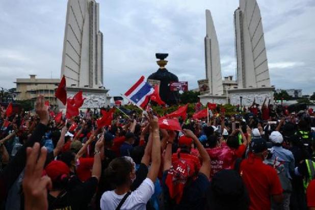 Thaïlande: manifestation à l'occasion de l'annniversaire du coup d'Etat de 2006