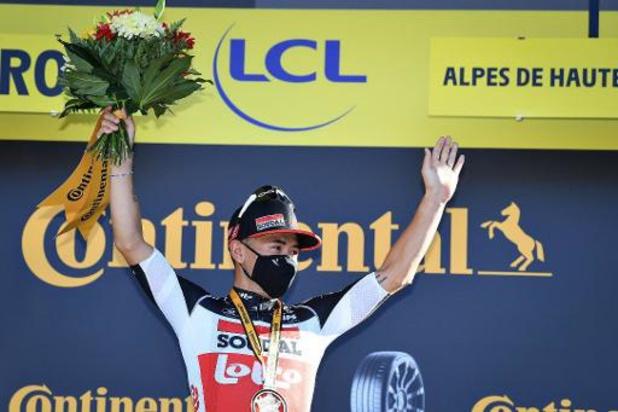 """Tour de France: Caleb Ewan après son numéro d'équilibriste: """"C'était risqué mais ça a fonctionné"""""""