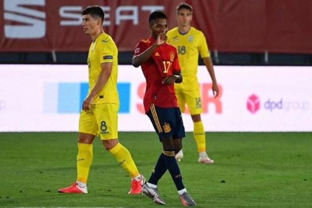 UEFA Nations League - Ansu Fati jongste doelpuntenmaker ooit voor Spanje