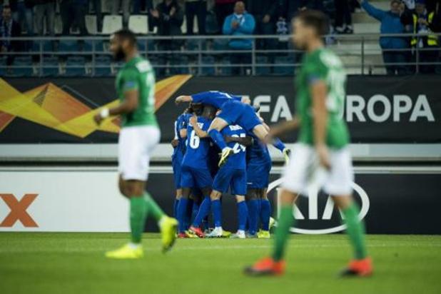 Europa League - AA Gent opent Europa League met thuiszege tegen Saint-Etienne
