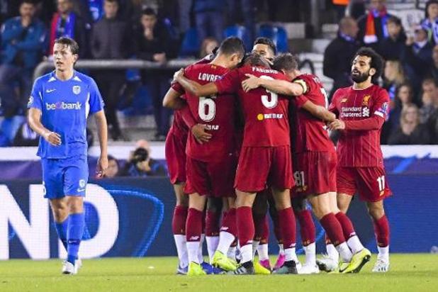 Ligue des champions - Liverpool s'impose facilement contre Genk