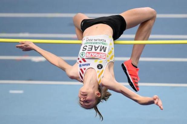 EK atletiek indoor - Geen finale voor youngster Merel Maes in hoogspringen