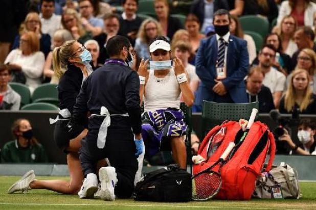 Wimbledon - Fin du beau parcours de Raducanu, qui abandonne contre Tomljanovic