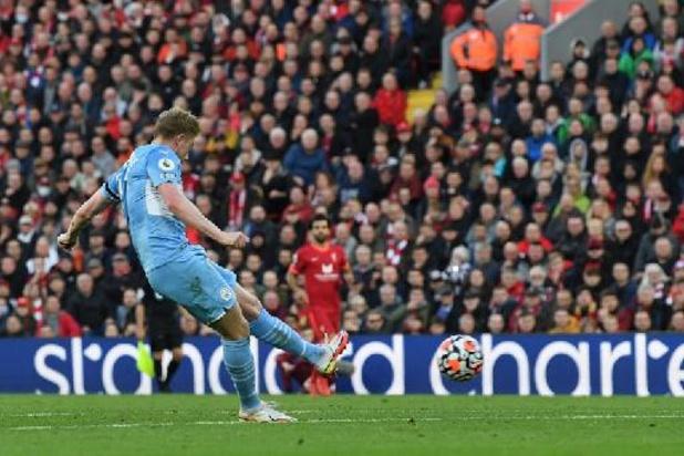 Belgen in het buitenland - Kevin De Bruyne schenkt City punt bij Liverpool