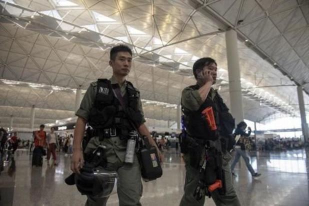Verbinding Hongkong luchthaven verstoord