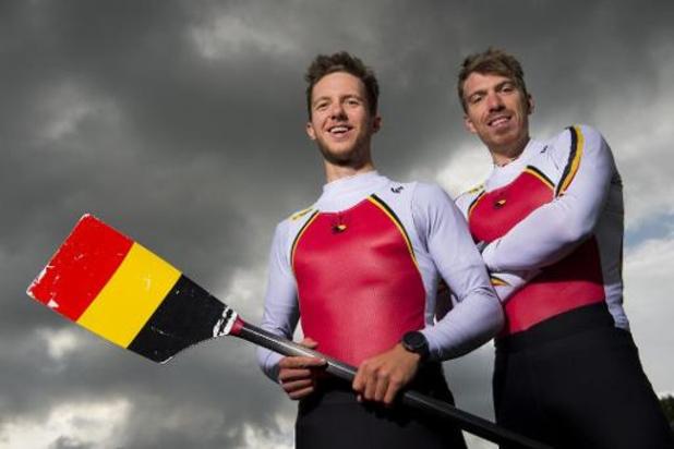 Les rameurs olympiques Tim Brys et Niels Van Zandweghe à nouveau réunis sur l'eau