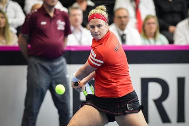 Australian Open - Ysaline Bonaventure plaatst zich voor tweede kwalificatieronde