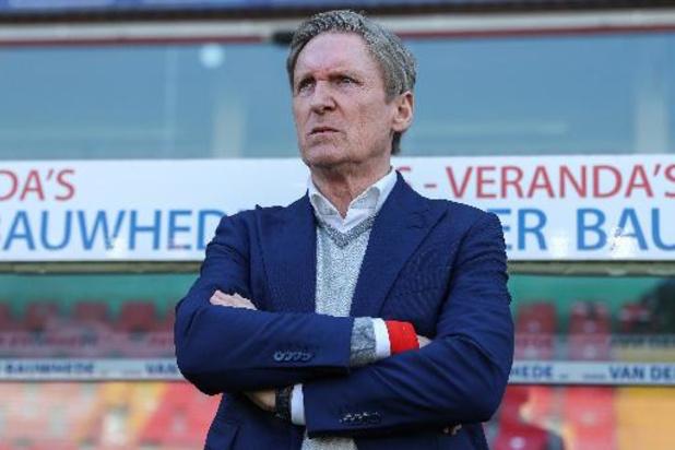Francky Dury stopt na volgend seizoen als coach van Zulte Waregem
