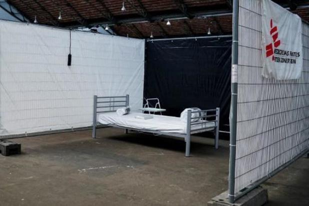 MSF agrandit son centre de triage à Tours et Taxis