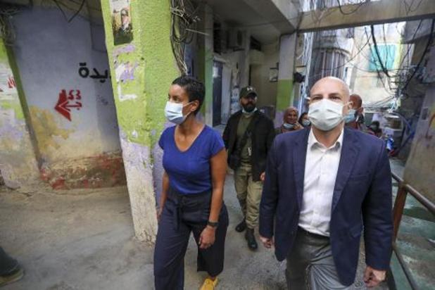 Kitir aangegrepen door bezoek aan Palestijns vluchtelingenkamp in Beiroet