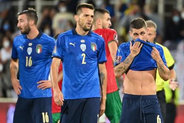 Kwal. WK 2022 - Italië evenaart wereldrecord na gelijkspel tegen Bulgarije, Spanje verliest van Zweden
