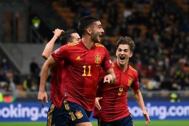 Ligue des Nations - L'Espagne met un terme à l'invincibilité de l'Italie et se hisse en finale