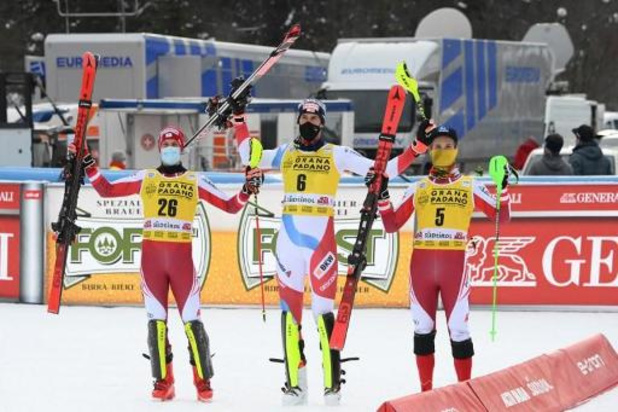 Le Suisse Ramon Zenhäusern remporte le premier slalom de la saison à Alta Badia