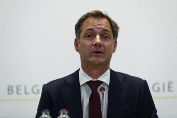 Alexander De Croo salue l'accord entre partenaires sociaux