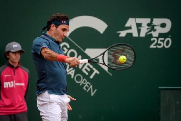 ATP Genève: Federer blaast meteen aftocht bij comeback