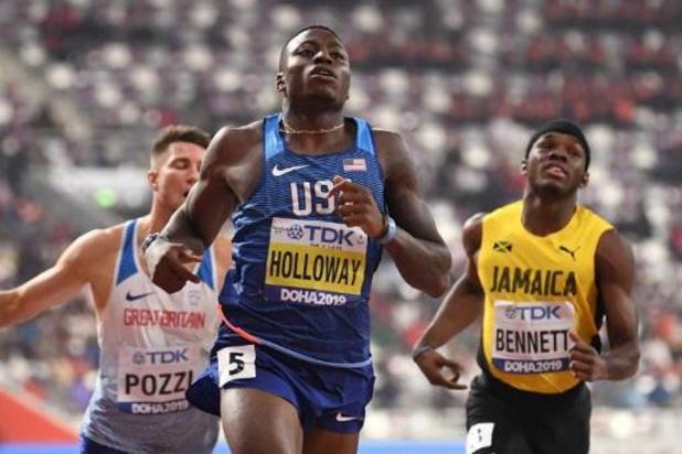 Mondiaux d'athlétisme - L'Américain Grant Holloway titré sur 110m haies où le tenant Omar McLeod chute
