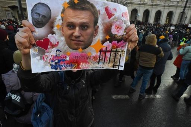 Echtgenote Navalny opnieuw opgepakt tijdens protesten