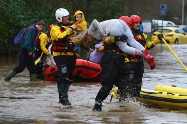 Verschillende overstromingen in Groot-Brittannië door storm Dennis