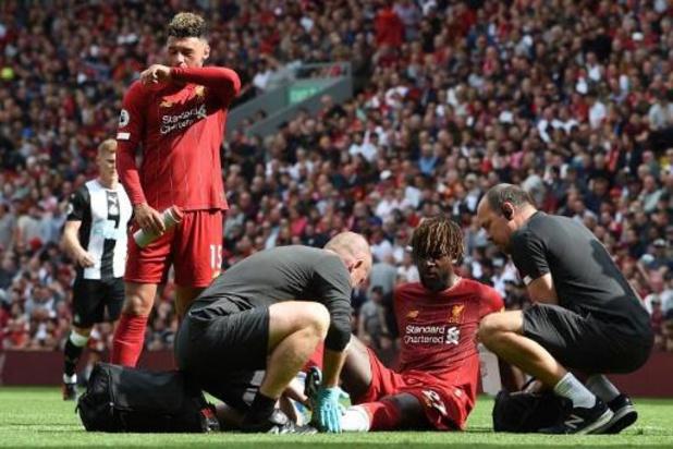 Belges à l'étranger - Quatorzième victoire consécutive de Liverpool en championnat, Origi blessé à la cheville