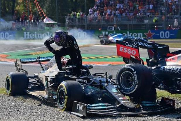 F1 - GP van Italië - Verstappen en Hamilton botsen halfweg, einde wedstrijd voor titelconcurrenten