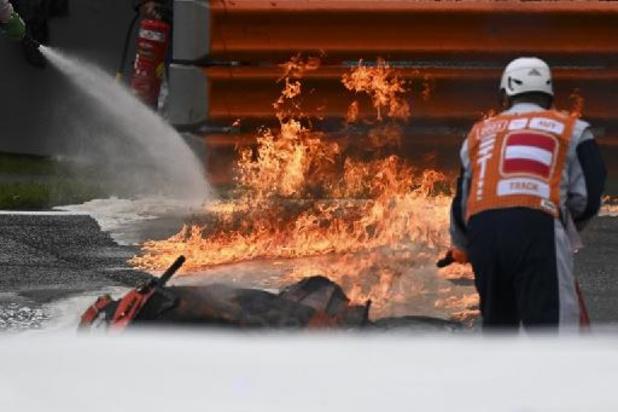 MotoGP-race onderbroken na spectaculaire crash